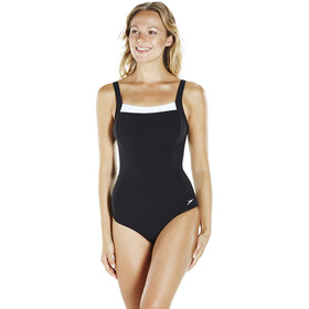 speedo Contour Renew 1 Piece Swimsuit Women Black/White